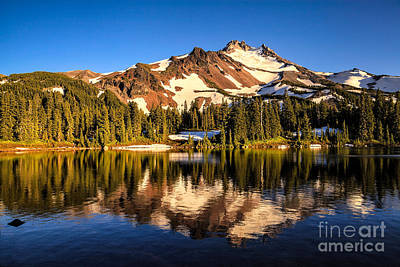 Mt. Jefferson Reflected In Alpine Lake Art Print