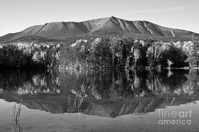 Mt Katahdin Black And White Art Print by Glenn Gordon