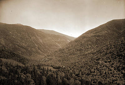 Mt. Lafayette And Franconia Notch From Bald Mtn, White Print by Litz Collection