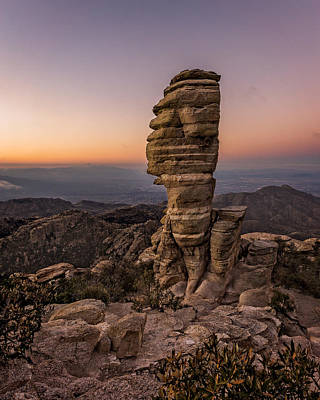 Photograph - Mt. Lemmon Hoodoo by Chris Bordeleau