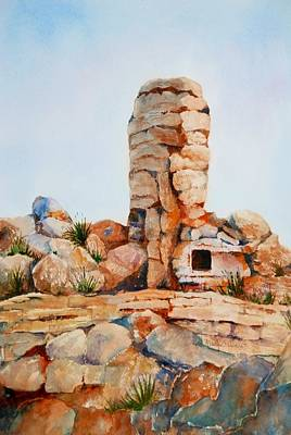 Painting - Mt Lemmon Tucson Az by Marilyn  Clement