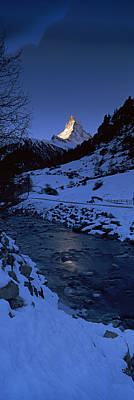 Mt Matterhorn From Zermatt, Valais Art Print by Panoramic Images