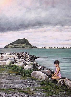 Mt Maunganui 140408 Art Print