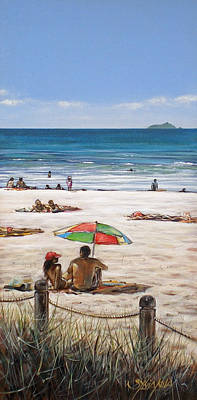 Mt Maunganui Beach 090209 Art Print