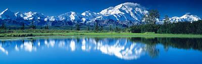 Mt Mckinley And Wonder Lake Denali Art Print by Panoramic Images