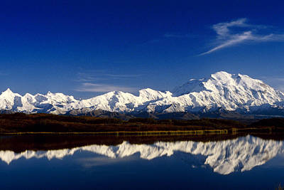 Royalty Free Images Photograph - Mt Mckinley Relfected In Wonder Lake by John Warden