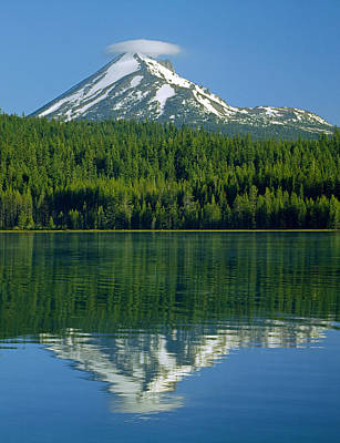 Grimm Fairy Tales - 1M5705-Mt. McLoughlin from Lake of the Woods - V by Ed  Cooper Photography