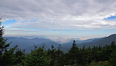 Photograph - Mt. Mitchell Clouds Below by Alan Lenk