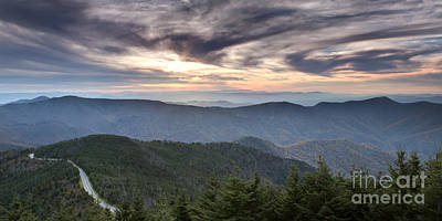 Mitchell Photograph - Mt Mitchell Sunset Blue Ridge Parkway by Dustin K Ryan