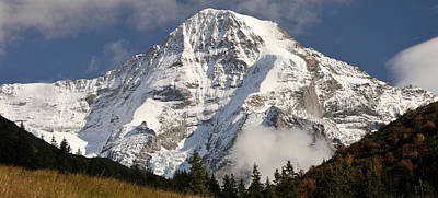 Bernese Photograph - Mt Monch, Kleine Scheidegg, Bernese by Panoramic Images