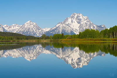 Photograph - Mt. Moran  by Aaron Spong