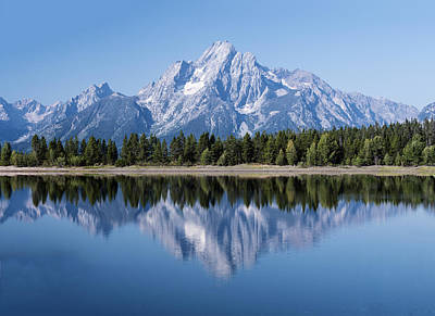 Mt. Moran At Grand Tetons With Reflection In Lake Art Print