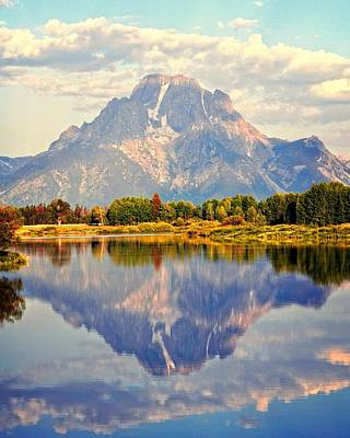 Mt. Moran At Sunrise Art Print
