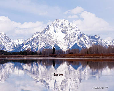 Photograph - Mt. Moran by CR  Courson