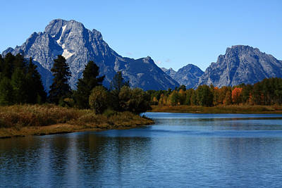 Photograph - Mt Moran From Oxbow Bend by Aidan Moran