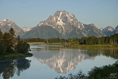 Photograph - Mt Moran by Kenneth Hadlock