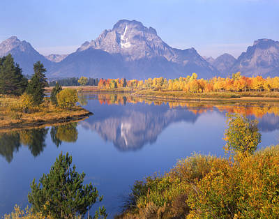 Photograph - 1m9234-mt. Moran Reflection, Wy by Ed  Cooper Photography