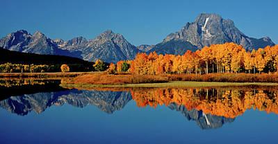Mt. Moran Reflection Art Print by Ed  Riche