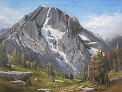 Painting - Mt Moran - Tetons by Mar Evers