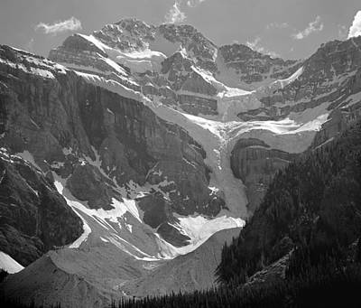 Photograph - 103679-mt. Patterson And Snowbird Glacier, Bw by Ed  Cooper Photography