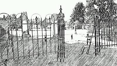 Cemetery Family Gates Original by ARTography by Pamela Smale Williams