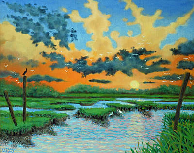 Mt. Pleasant Sunset Art Print by Dwain Ray