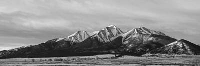 Sawatch Range Photograph - Mt. Princeton Black And White by Aaron Spong