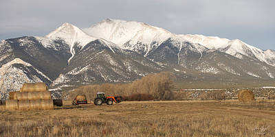 Photograph - Mt. Princeton Farmer by Aaron Spong