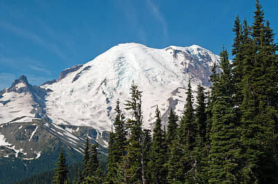 Mt. Massive Photograph - Mt. Rainier At Sunrise Viewpoint by Tikvah's Hope