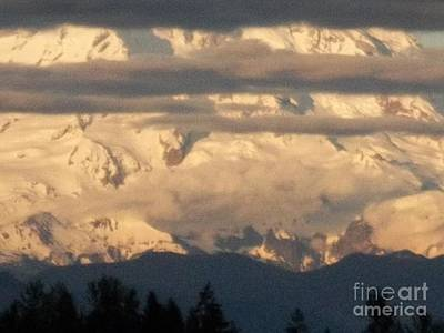 Photograph - Mt Rainier Dusk Time by Pamela Roberts-Aue