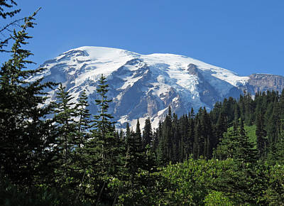 Photograph - Washington's Mt. Rainier by E Faithe Lester