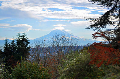Photograph - Mt Rainier From Corban University by Tikvah's Hope