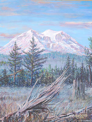 Painting - Mt. Rainier From Eatonville 2014 by LeRoy Jesfield