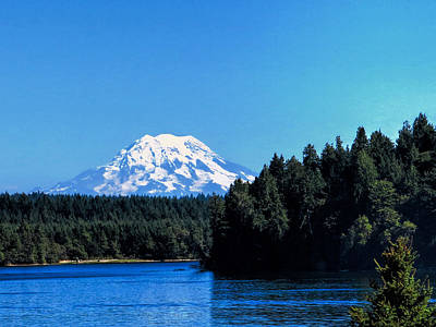 Photograph - Mt. Rainier From Shelton Wa by Ron Roberts