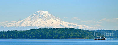 Mt Rainier From The Sound Art Print