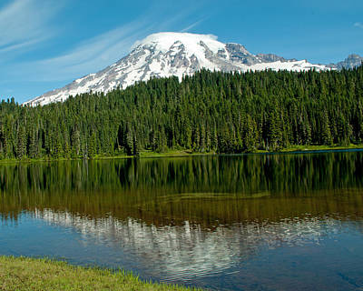 Print featuring the photograph Mt. Rainier II by Tikvah's Hope