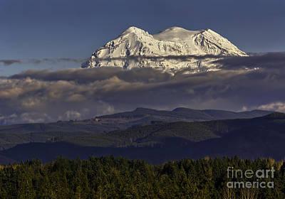 Photograph - Mt Rainier by Jean OKeeffe Macro Abundance Art