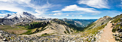 Photograph - Mt Rainier National Park Panorama by Dan McManus