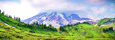 Photograph - Mt. Rainier Panorama by Athena Mckinzie