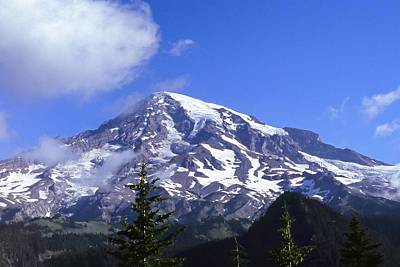Photograph - Mt. Rainier by Paul Rebmann