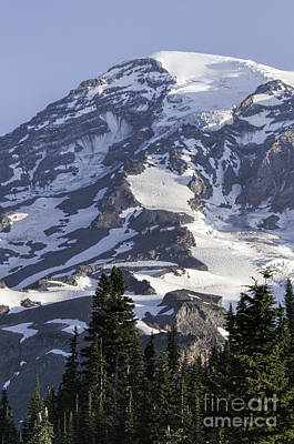 Photograph - Mt Rainier Portrait by Sharon Seaward