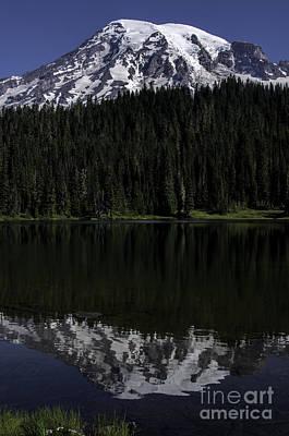 Photograph - Mt Rainier Reflected In Reflection Lake by Sharon Seaward