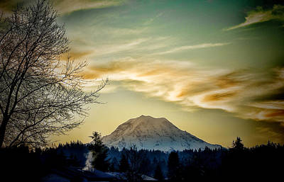 Photograph - Mt. Rainier by Ron Roberts