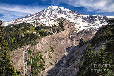 Photograph - Mt. Rainier by Stuart Gordon