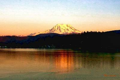 Photograph - Mt. Rainier Sunset by Sadie Reneau