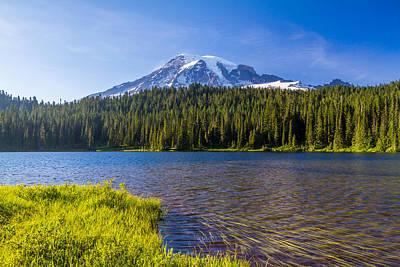 Mt Rainier Viewpoint Art Print