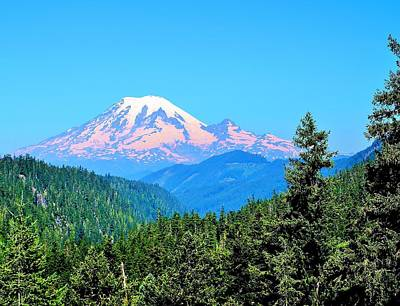 Photograph - Mt Rainier by Vivian Markham