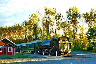 Photograph - Mt Rainier W A Scenic Railroad by Sadie Reneau