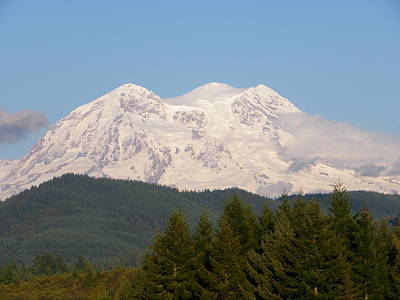 Photograph - Mt. Ranier 1 by Sarah Lamoureux