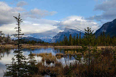 Photograph - Mt Rundel Over The Lake by John McArthur